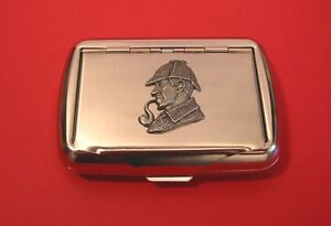 Sherlock Holmes Tobacco Tin Box Literacy Gift English Teacher Smoking accessory