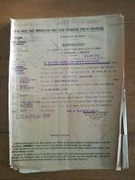 Notification d'arrêté pension d'invalidité 1942 suite à la 1ère Guerre 1914 1918