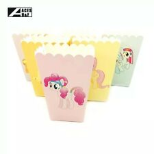 🌈6x My Little Pony Popcorn Box Paper Loot Lolly Bag. Party Supplies Rainbow