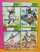 XBOX 360 Sport Game Lot Madden NFL Football 13 15 16 25/2014 Tested EA Sports