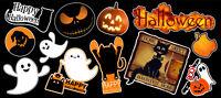 Happy Halloween Contour Cut Vinyl Sticker Bundle
