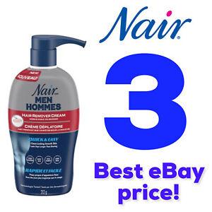 3 Pack - Nair Men Hair Removal Body Cream 13 oz (312 g) Each