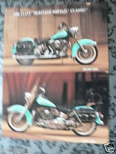 D529 HARLEY-DAVIDSON BROCHURE 1998 FLSTC HERITAGE SOFTAIL CLASSI ENGLISH 2 PAGES