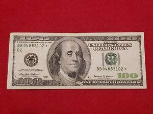 1999 One Hundred $100 Dollar Bill Federal Reserve Banknote ** Star Note Series**