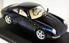 BRACCIO & Gotz 1/18 SCALA PORSCHE 911 993 Coupe Blu Modello Diecast Auto + VALIGETTA