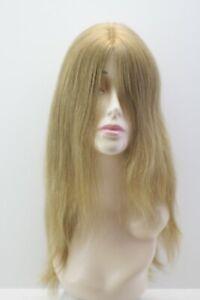 LUX WIG. Virgin Slavic hair Imitation scalp Cascading style Natural light blonde