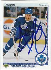 AL IAFRATE Autographed Signed 1990-91 Upper Deck card Toronto Maple Leafs COA