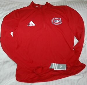 Montreal Canadiens Adidas 1/4 zip knit performance shirt NWT women's small