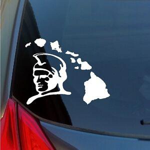 King Kamehameha Hawaiian Islands vinyl sticker Honolulu Hawaii Warrior Chief 808