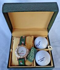 Golf Watch Second Hand Ball Minute Hand A Club Golfers on Band 2 Balls ESP