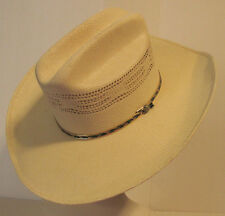 Texas Hat Company Bandora Ivory Western Cowboy Stetson Hat Sz 7