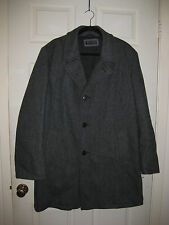 Whales of New England Sz 42R Gray Herringbone Wool Single Breasted Coat