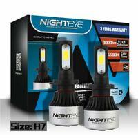 Nighteye 2X H7 72W 9000LM LED Conversion Phare KIT Ampoules Xénon Blanc 6500K