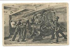 SHIPPING / JAPAN - JAPANESE GUN CREW IN ACTION Artist CATON WOODVILLE Postcard