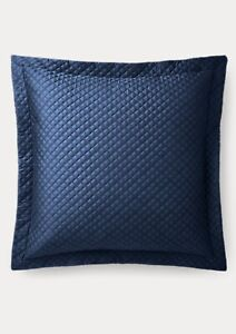 Ralph Lauren RL Quilted Sateen Argyle Sham Color Polo Navy $185