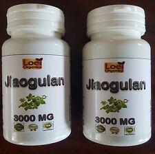 2 x 60 Best Organic Jiaogulan Herb - 500mg x Capsules - Gynostemma pentaphyllum