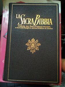 La sacra Bibbia tradot dai Testi Originali Salani 1961 Caratteri oro simil pelle