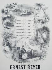 ERNEST REYER PIANO CHANT PARTITION PIERRE DUPONT SOUS LES TILLEULS 1872 BERTRAND