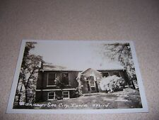 1920s LIBRARY SAC CITY IOWA ANTIQUE RPPC REAL-PHOTO POSTCARD