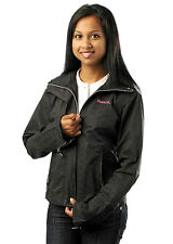 PRE-OWNED BENCH Ladies BBQ jacket Black/Pink 100% cotton Small MINT CONDITION