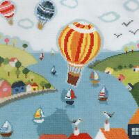14ct Cross Stitch Kit - Bothy Threads - Beside The Seaside Ballons - 26 x 26 cm