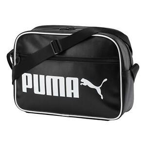 Puma Campus Reporter Retro Shoulder Bag - Black NEW