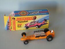 Lesney Matchbox Superfast 64 Slingshot Dragster Orange Body Boxed RARE