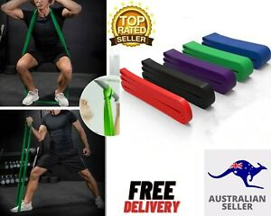 Set of 4 Heavy Duty Resistance Yoga-bands-loop Exercise Fitness Workout Band Gym