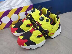 Reebok x Adidas Instapump Fury Boost - Citron Yellow, OG UK 7 - Dead Stock