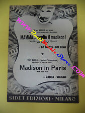 RARO SPARTITO SINGOLO JOE and VIRGINIO Mamma voglio il madison In paris no cd lp