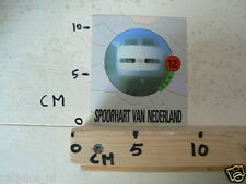 STICKER,DECAL NS DE TGV TREIN NO 12 SPOORHART VAN NEDERLAND
