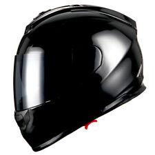 1Storm DOT Motorcycle Full Face Helmet Dual Lens Sun Visor Monster Glossy Black