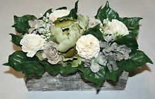 Floral Arrangment . Gift. Flower Arrangement in Wooden Box.