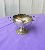 Shaving Sugar Salt Bowl Cup with Handles EPNS Antique Rare and Unusual