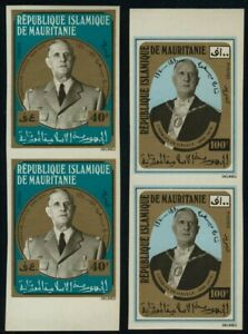 Mauritania 289-90 Imperf Pairs MNH Charles De Gaulle