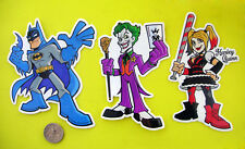 Batman Joker Harley Quinn Arkham Vinyl Sticker Set DC Comics Skateboard Decal