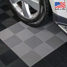 EZ DIY Garage Floor Tiles |Perforated Tiles Gray - USA MADE
