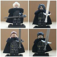 Game Of Thrones Jon Snow Nights Watch Castle Knights Soldiers Mini Figures X 4