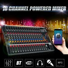 16 Channel Professional Powered Mixer power mixing Amplifier Amp SK16