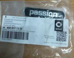 SCRITTA ADESIVA PASSION per SMART 450 451 98/14 adesivo ORIGINALE