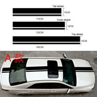 3X Car Racing Sports Stripe Sticker Vinyl Hood Roof Trunk Stickers Decal Black #