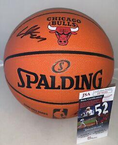Lauri Markkanen NBA Replica Game Ball signed Chicago Bulls Logo Basketball JSA