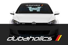 "Dubaholics german flag vinyl Windshield Banner Decal sticker 36"" Fits Volkswagen"