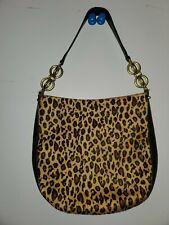 Adrienne Vittadini Calf Hair Leopard Print Purse.