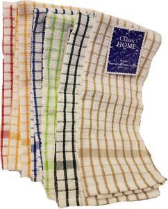 """12 Pack Kitchen Towel Dish Cloth Super Absorbent Tea Towels 15x25"""" Cotton"""