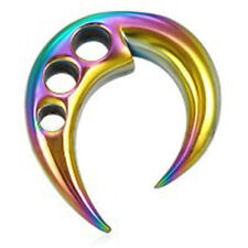 Pride Shack - Rainbow Ear Taper Expander w/ Triple hole - Gay & Lesbian Earring
