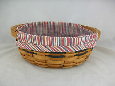 "Longaberger 2004 10"" Round Serving Tray Basket Combo"