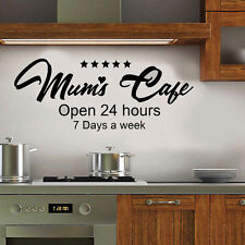 "Kitchen/dining room Wall  Art  Vinyl Transfer  Decal ""5***** Mums Cafe"" Quote"