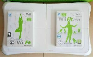 Nintendo Wii Fit & Fit Plus Game + Official WHITE Balance Board