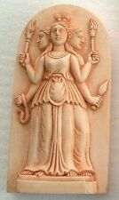 Hecate Triple Goddess Maiden Mother Crone Miniature Pagan Wiccan Statue #H4